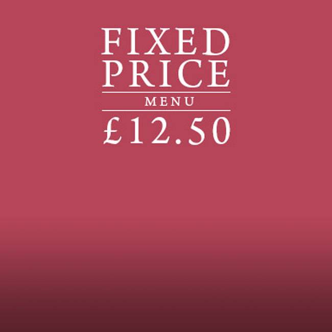 Fixed Price Menu at The Red Lion